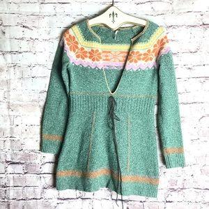 Free People boho hippie wool sweater
